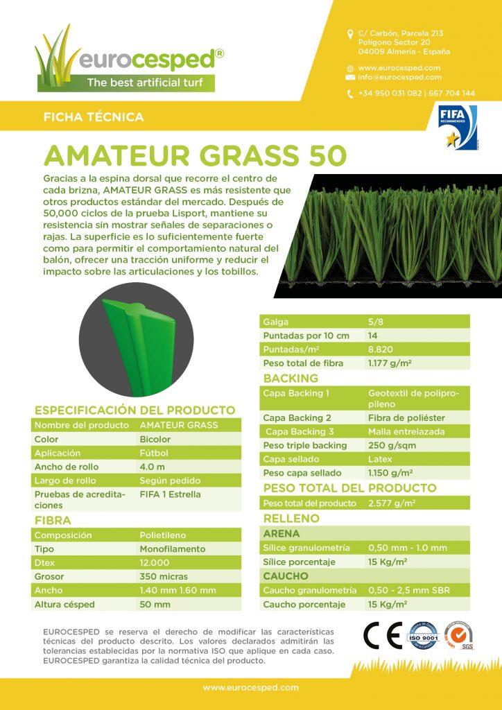 چمن مصنوعی فوتبال Amateur 50