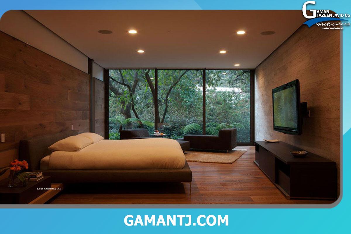 کف پوش چوبی در اتاق خواب