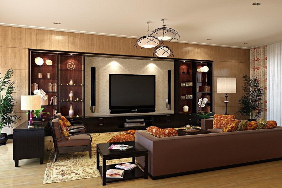 طراحی داخلی با چوب در پذیرایی