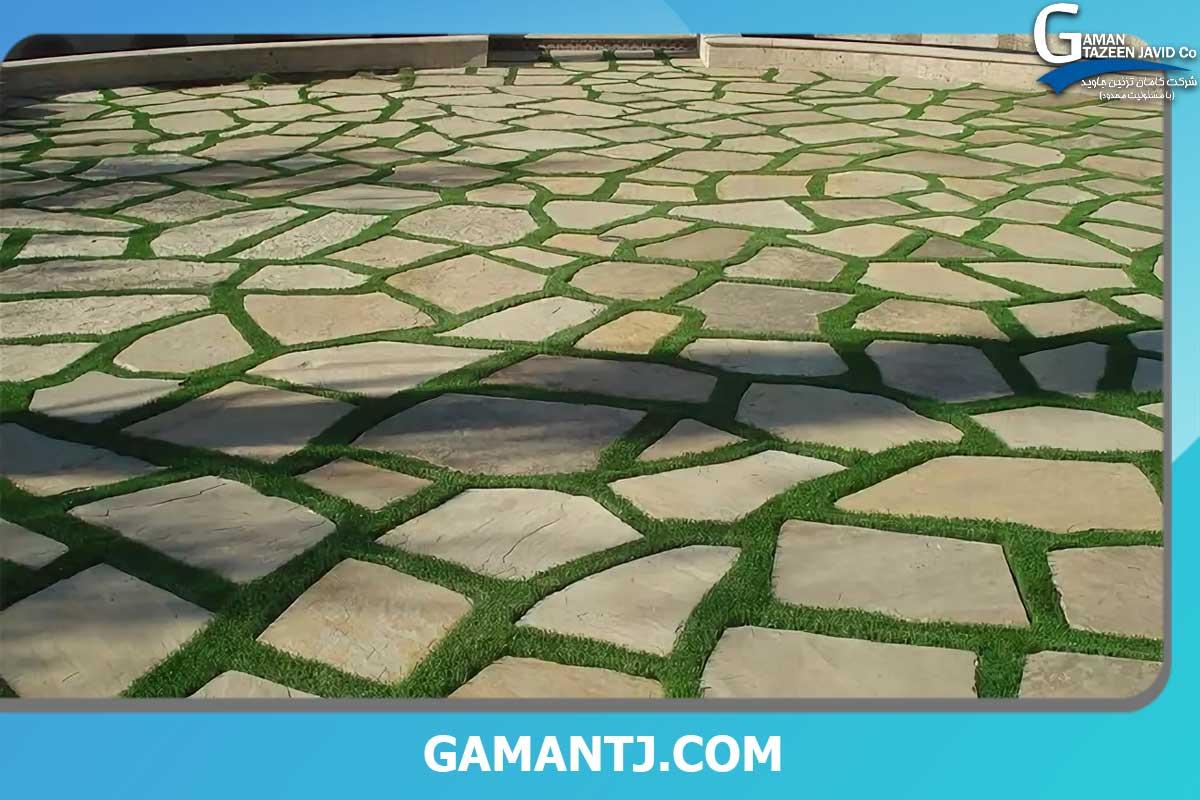 چمن مصنوعی بین سنگ