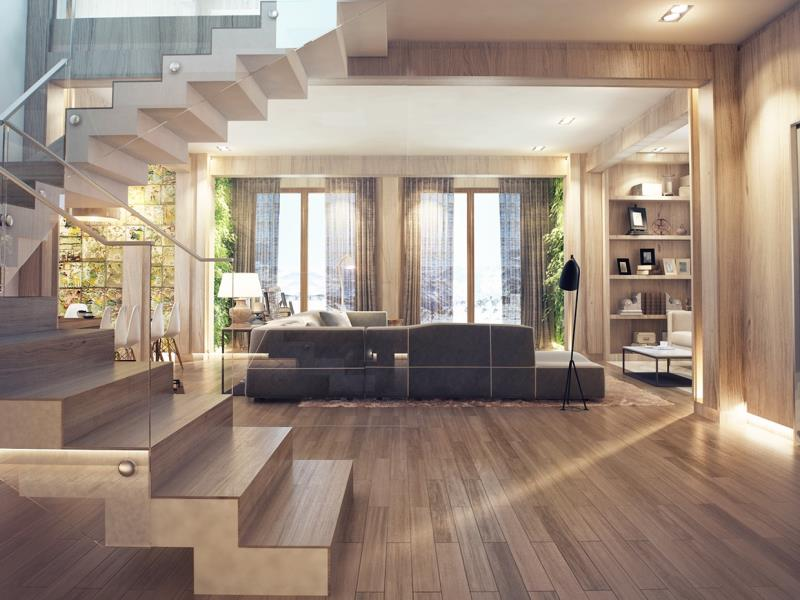 دکوراسیون داخلی چوبی منزل