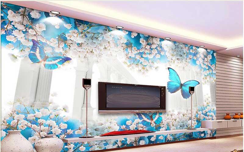 پوستر دیواری گل برای پذیرایی