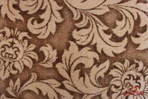 موکت ظریف مصور طرح کاملیا رنگ قهوهای کد ۶۰۳۱
