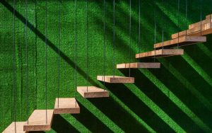 دیوار سبز چمن مصنوعی
