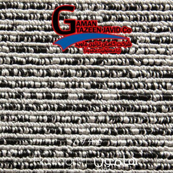 موکت ظریف مصور طرح هامون ۷۹۴۲ نقره ای