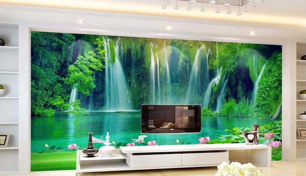 پوستر دیواری پشت تلویزیون طرح طبیعت