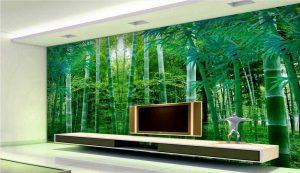 پوستر دیواری پشت تلویزیون