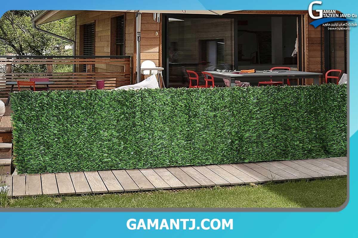 دیوار سبز چمن