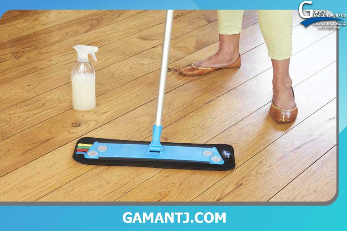 راه های تمیز کردن کفپوش pvc