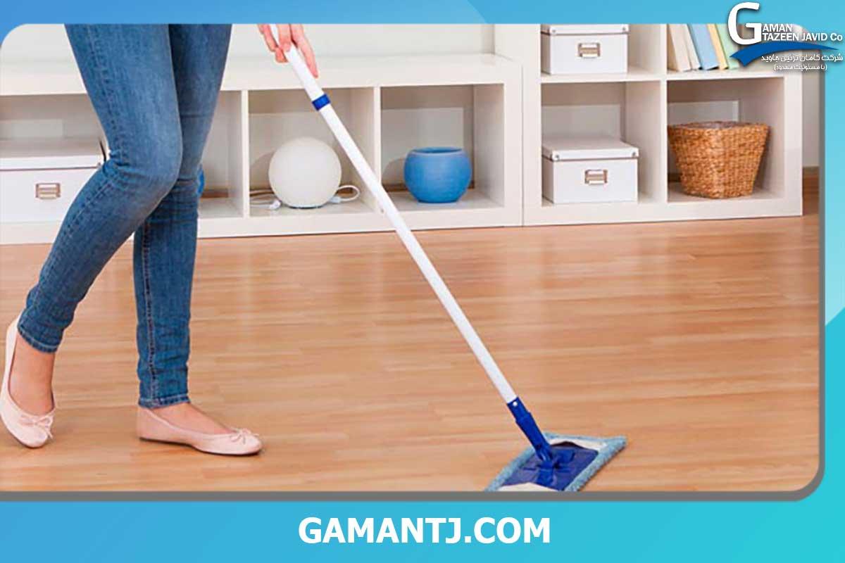 تمیز کردن کفپوش pvc فوری