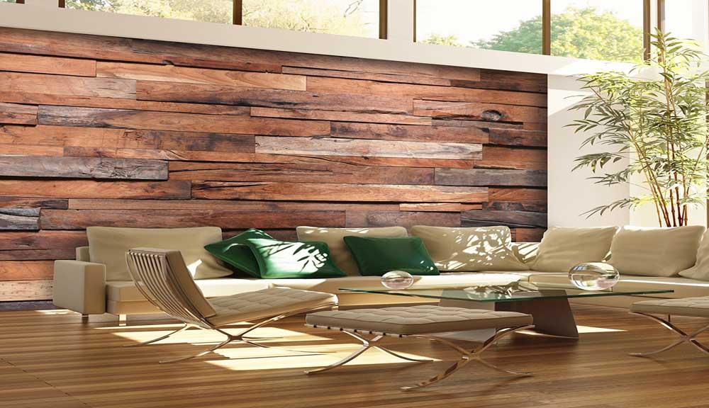 پوستر سه بعدی با طرح چوب