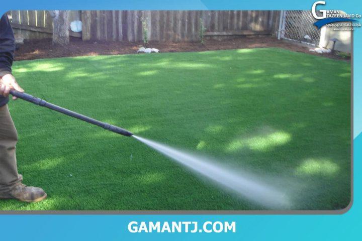 ضد عفونی چمن مصنوعی حیاط
