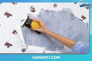 جدا کردن کاغذ دیواری های قدیمی