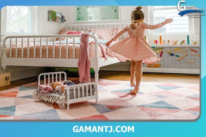 رنگ موکت اتاق خواب دخترانه