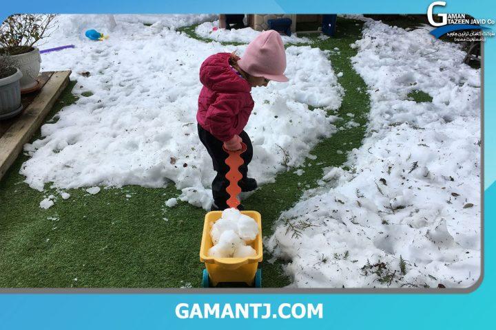 چمن مصنوعی در سرمای زمستان