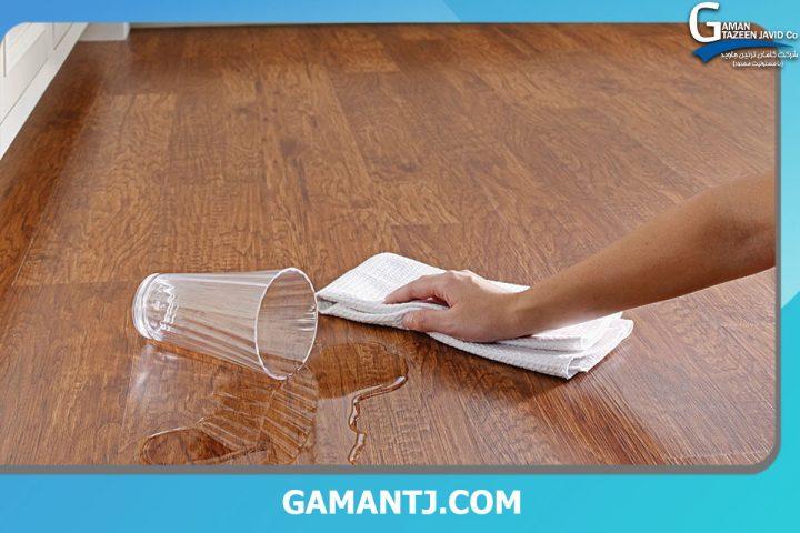 خشک کردن کفپوش چوبی