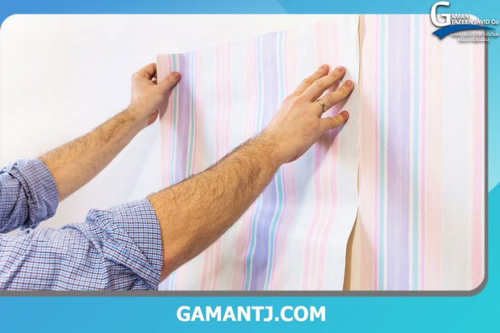 نصب کاغذ دیواری روی دیوارهای سیمانی