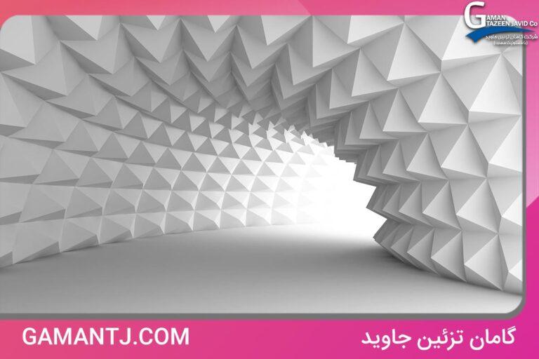 پوستر دیواری سه بعدی راهرو سفید مدرن کد 3D-012