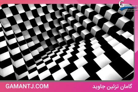 پوستر دیواری سه بعدی شطرنجی کد 3D-046