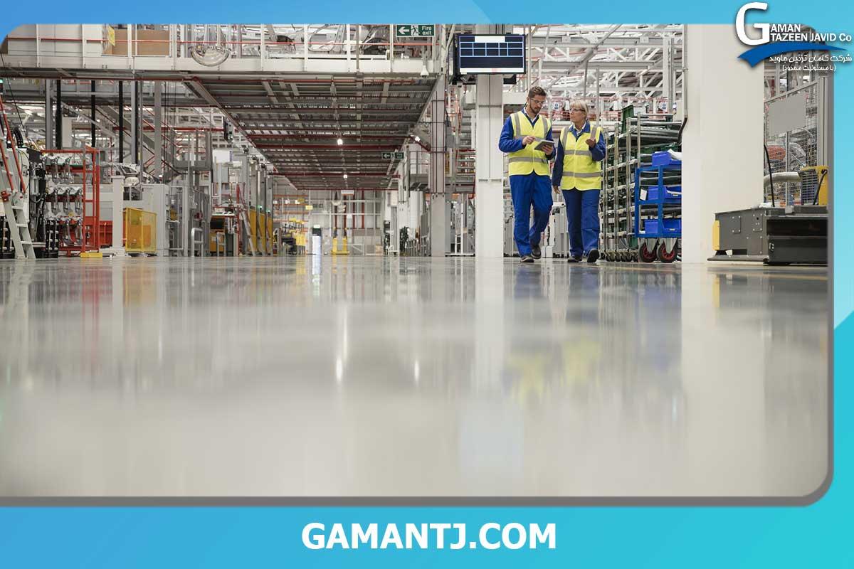اجرای کفپوش در ساختمان های صنعتی
